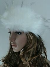 Posh Luxury Ladies Top Quality Faux White Fur Headband guess Christmas present:)
