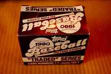 1990 TOPPS FACTORY TRADED & ROOKIE COMPLETE SET