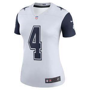 Dak Prescott Dallas Cowboys Women's Nike  Legend Color Rush White/Navy Jersey