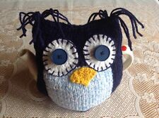 HAND KNITTED TEA COSY - OWL