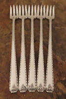 Oneida Bordeaux 5 Cocktail Forks Prestige Vintage Silverplate Flatware Lot S