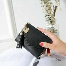 Women's Short Small Wallet Lady Leather Folding Coin Card Holder Money Purse