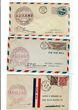 Abilene TEXAS 1930 Airport Dedication 3 Flight Covers Air Mail + 2 Others !!