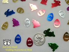 Wedding Table Scatters Foil Confetti Easter Mix - Chicks, Eggs & Bunnies x 3