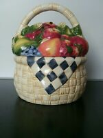 Fruit Basket Cookie Jar Susan Winget