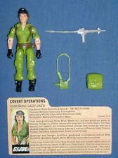 1985 LADY JAYE v.1 GI/G.I Joe Covert Operations 100% Complete w/FC file card JTC