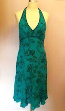 Silk Special Occasion Halter Neck Floral Dresses for Women