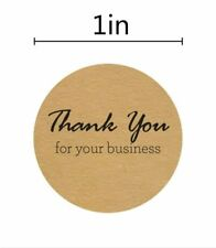 Stickers - Kraft Thank You for your Business  - Set of 50