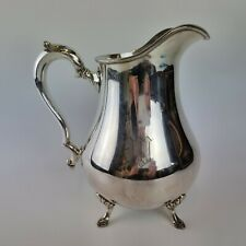 More details for vintage international silver company king george silver plated water jug 23cm