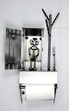 Dévidoir mural papier toilette WC cabane Hinz & Kunst en acier
