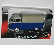 Cararama - VW Volkswagen T1 Covered Pick Up (Blue) Model Scale 1:43
