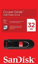 Sandisk Cruzer Glide 32gb USB 2.0 MEMORIA FLASH PEN DRIVE