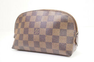 Auth Pre-owned Louis Vuitton LV Damier Pochette Cosmetic Pouch Bag N47516 210001