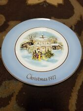 """""""Christmas Carollers In The Snow"""" Avon by Enoch Wedgwood '1977' Collectors Plate"""