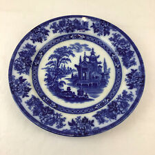 More details for doulton burslem madras plate flow blue round 26.5cm 10.5 inch dinner