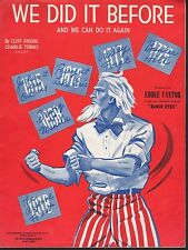 We Did it Before and We Can Do It Again 1942 Sheet Music