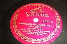 "BRUNO WALTER 12"" 78 SCHUBERT Rosamunde Ballet Music 1 & 2 Victor 12534 VG++"