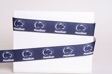 """PENN STATE NITTANY LIONS PSU 7/8"""" GROSGRAIN RIBBON 1,3,5,10 YARDS SHIP FROM USA"""