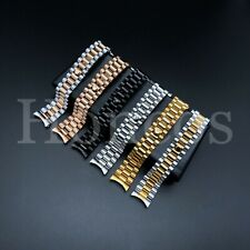 20 MM President jubilee Watch Band Bracelet Fits for Rolex Stainless Steel Gold