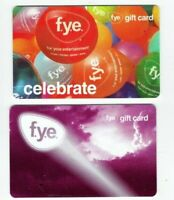 FYE Gift Card LOT of 2 - Balloons, Purple Clouds - 2009 / Suncoast - No Value