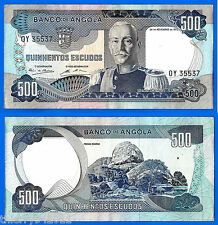Angola 500 Escudos 1972 Africa Banknote Carmona FREE Shipping Worldwide Paypal