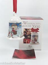 Hutschenreuther Weihnachtsglocke Porzellanglocke Glocke 2000 mit Verpackung NEU
