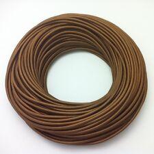 100m Design Textilkabel Stoffkabel Lampenkabel Bronze 2x0,75 Top EU Qualität