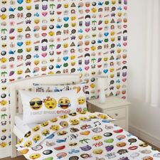 OFFICIAL EMOJI WALLPAPER KIDS BEDROOM FEATURE WALLPAPER DEBONA WALLCOVERINGS