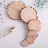 Round Natural Wood Slices Diy Wooden Crafts For Table Number Card Painting Decor