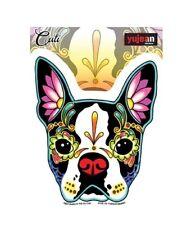 "(#57) CALI'S BOSTON TERRIER DOG 4-1/2"" x 5"" die-cut sticker (Y733)"