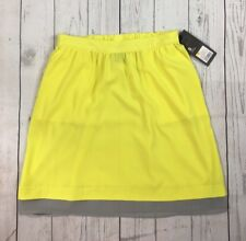 NWT Women's Mossimo Bright Yellow and Gray Gathered Skirt-Size S