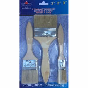 3 Pack Paint Brush Fine Brushes Set Advanced Bristles Decorating DIY Painting 3