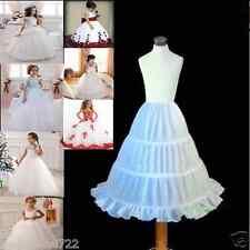 Flower Girl Dress 3-Hoop A-Line Crinoline Petticoat Underskirt Children PETTICOA