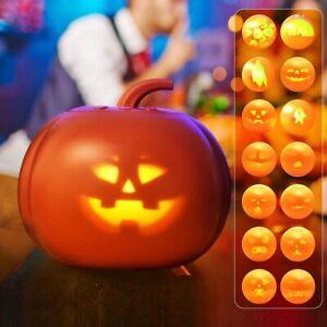 16 nette Animationen Kürbis Projektionslampe mit Sprecher Halloween Dekorationen