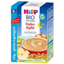 450g Hipp Bio Kacha au Lait Bonne Nuit Avoine Pomme sans Sucre Ajouté Env. 9