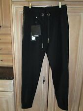 Philipp Plein Men's Black Guilty Trousers Pants Made In Italy Size 50 NWT