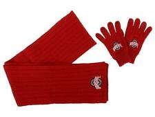 New Licensed Ohio State Buckeyes Winter Knit Scarf Gloves Embroidered Set CR