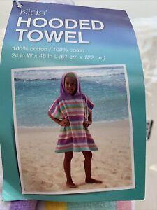 Hooded Towel Beach Towels Kids Towel Pastel Stripes