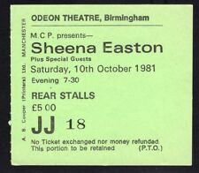 Original 1981 Sheena Easton Concert Ticket Stub Birmingham UK Take My Time