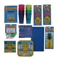 Luau, Tiki, Polynesian Party Bundle with Complete Table Supplies and Decorations