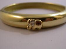 Traum  Armreif m. Farbstein und Brillanten Gold 750 Designerware Elefant
