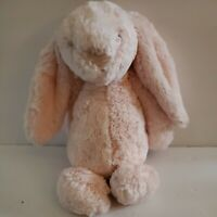 "Jellycat Bashful Bunny Pink Chime Rabbit Rattle Stuffed 12"" Plush lovey baby"