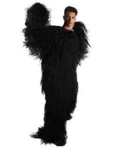Adult Men's Long Hairy Warrior Ape Military Leader Black Costume HC-1577