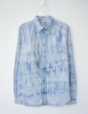 HOF115: WEEKDAY Stan shirt denim acid wash blue / Hemd jeans blau baumwolle M