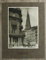 Blatt a Karton 1912 Berlin Ephraimsches Palais Poststraße Post Kutsche 23x33cm