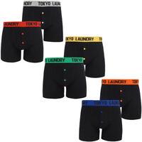 New Mens Tokyo Laundry Maldon2 (2 Pack) Buttoned Boxer Shorts Set Size S - XXL