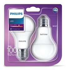2 Pk Philips LED Frosted E27 Edison Screw 100w Warm White Light Bulb Lamp 1521lm