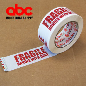 1 Roll Fragile Marking Tape Handle w/ Care Shipping Packing - 2.0 mil 330'