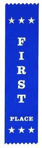 10 First Place Ribbons 200 x 50 mm - Metallic GOLD print