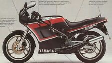YAMAHA RD350LC YPVS F2  MODELS  FULL PAINTWORK DECAL KIT FOR BLACK PAINTWORK